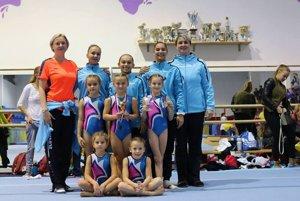 Úspešné detvianske gymnastky