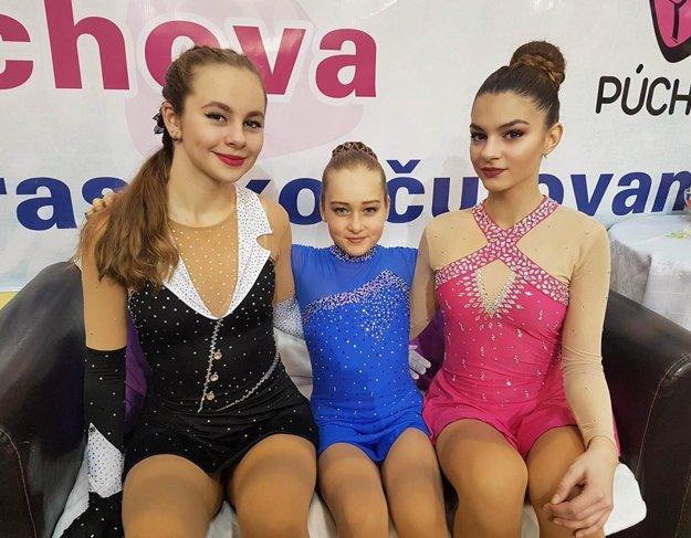 Zľava Katarína Stračárová, Patrícia Černíková a Patrícia Lincmaierová.