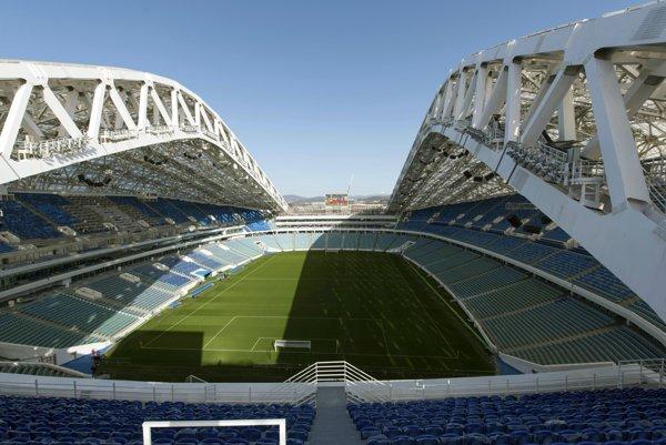"""Olimpijskij stadion """"Fišt"""" v Soči."""