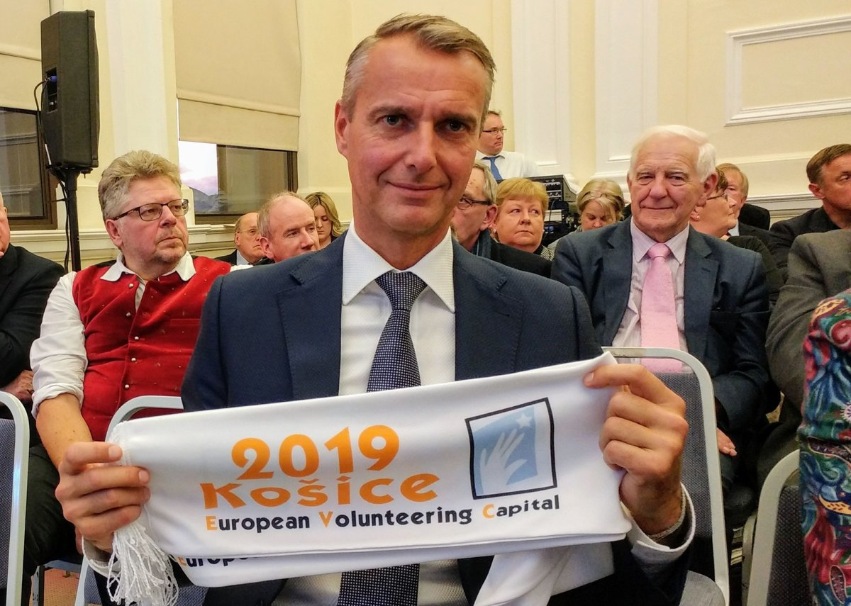 430615a8c7e2f Košice získali titul Európske hlavné mesto dobrovoľníctva 2019 ...