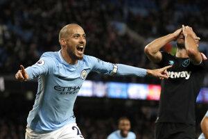 Momentka zo zápasu Manchester City - West Ham.