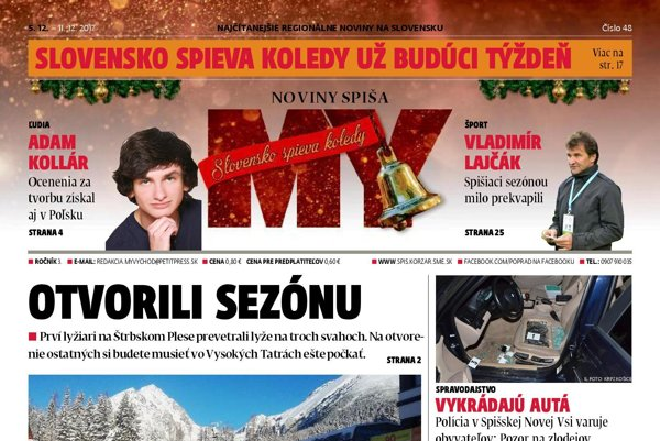Titulka MY Noviny Spiša