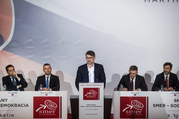 Marek Maďarič počas svojho príhovoru.