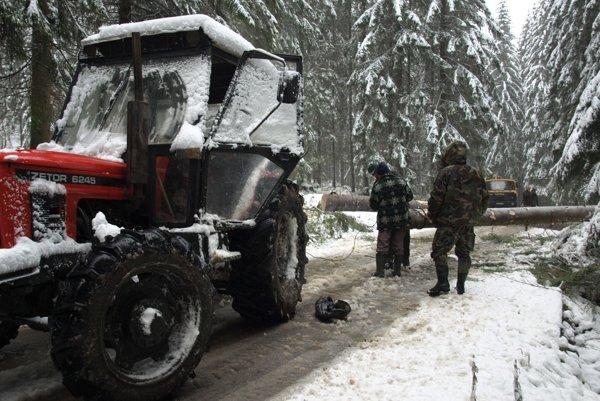 Popadané stromy uväznili v horách niekoľko turistov.