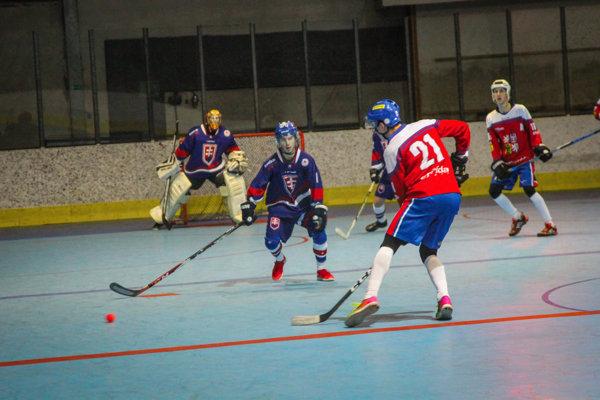 V Žilinskej športovej hale na Bôriku sa predstavili hokejbaloví reprezentanti zo Slovenska a Českej republiky do 20 rokov.