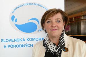 Prezidentka Slovenskej komory sestier a pôrodných asistentiek (SKSaPA) Iveta Lazorová.