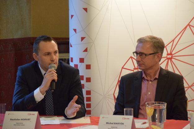 Zľava: Rastislav Horvát, predseda Miestnej Akčnej Skupiny Dolný Liptov a Michal Bartók, riaditeľ Štátneho inštitútu odborného vzdelávania