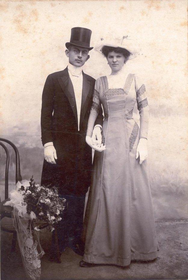 S manželkou Irenou Grundovou.