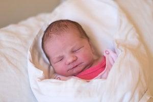 Karolínka Machunková (3360 g, 54 cm) sa narodila 12. decembra Jane a Radovanovi z Tr. Turnej.