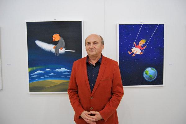 Vlado Pavlík vystavuje obrazy i kresby.