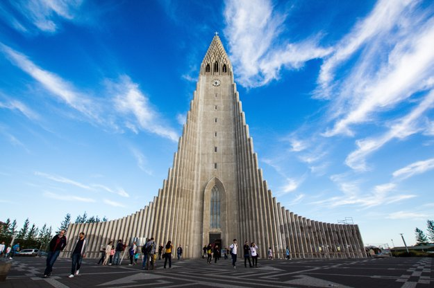 Kostol Hallgrímskirkja v Reykjavíku
