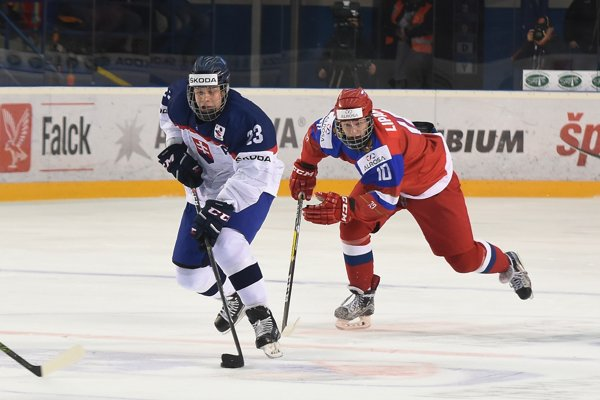 Adam Liška (vľavo) v drese slovenskej reprezentácie.
