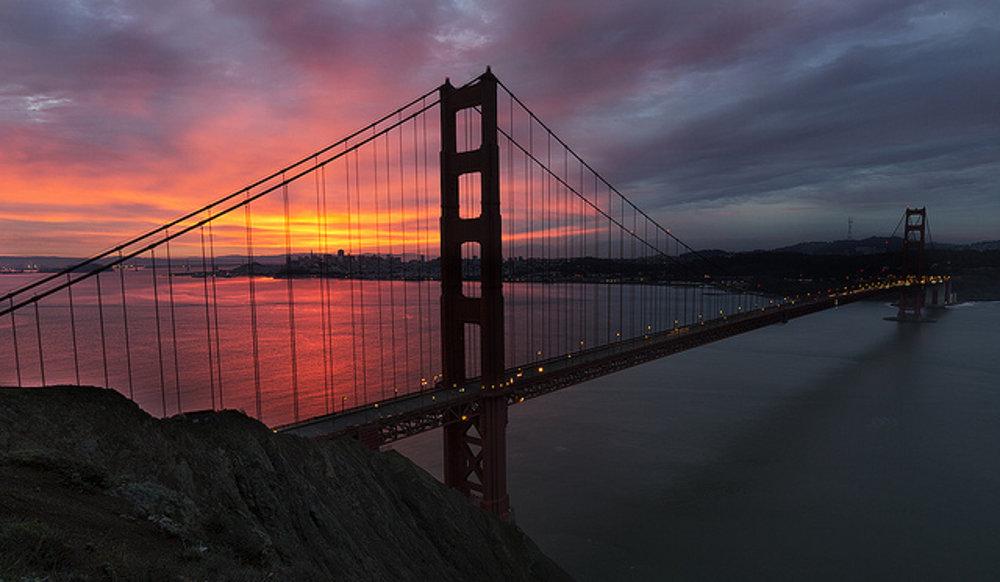San Francisco. Golden Gate Bridge.