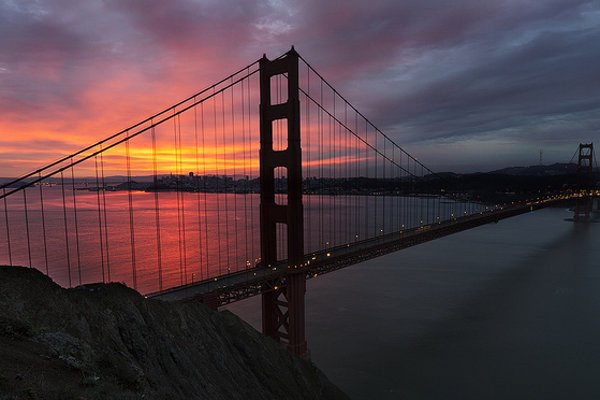 San Francisco. Golden Gate Bridge.