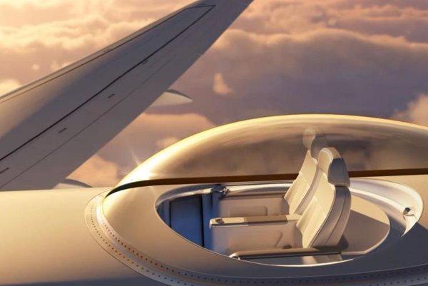 Sklenená kopula by mala zvýšiť atraktivitu dlhých letov.