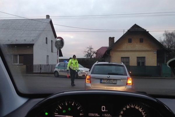 Pátracia akcia v Skalke nad Váhom.