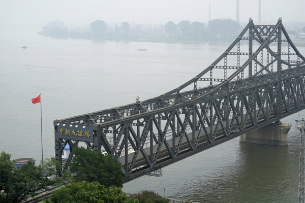 Čínsko-kórejský most priateľstva.