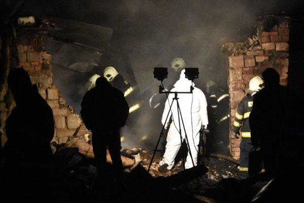 Likvidácia požiaru v Sačurove.