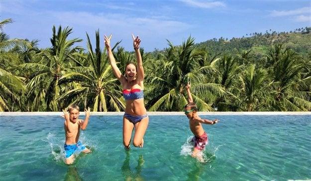 Marika, Michal a ich deti Matej a Michael už spolu precestovali kus sveta
