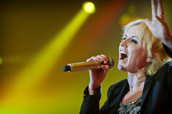 Dolores O´Riordanová v roku 2012 vystupovala s kapelou The Cranberries v Bratislave.