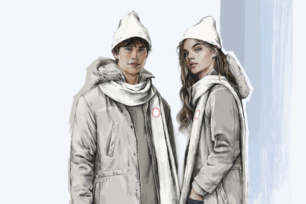 Oblečenie pre ruských športovcov.