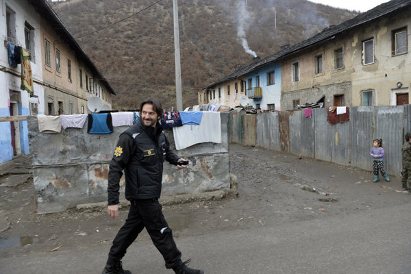 Kaliňák počas návštevy v Krompachoch.