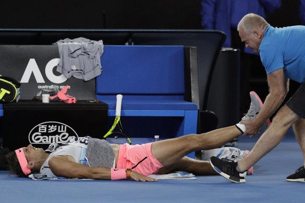 Rafael Nadal skrečoval zápas proti Čiličovi.
