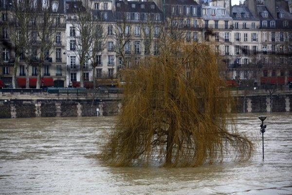 popod mosty. Zaplavené sú aj mnohé záhrady a parky v blízkosti rieky. Voda začala zalievať aj niekoľko  podzemných parkovísk v 12. a 13. obvode.