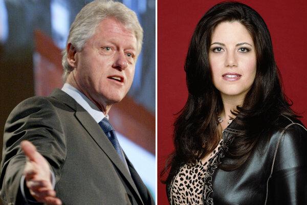 Bill Clinton a Monika Lewinská.