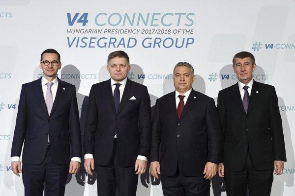 Lídri Vyšehradskej štvorky.