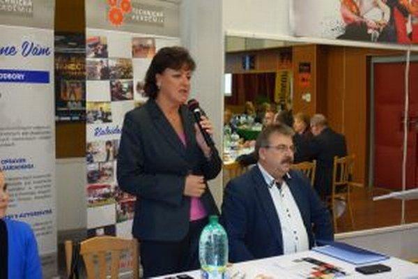 Na stretnutí sa zúčastnila aj zvolenská primátorka Lenka Balkovičová.
