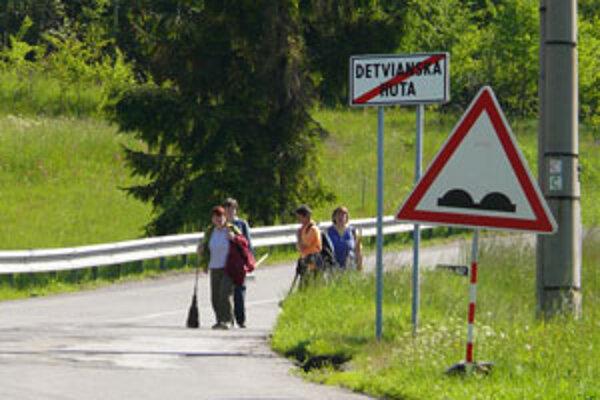 Cesta medzi Detvianskou Hutou a Látkami patrí k najhorším.