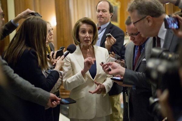Šéfka menšiny Demokratickej strany v Snemovni reprezentantov Nancy Pelosiová.