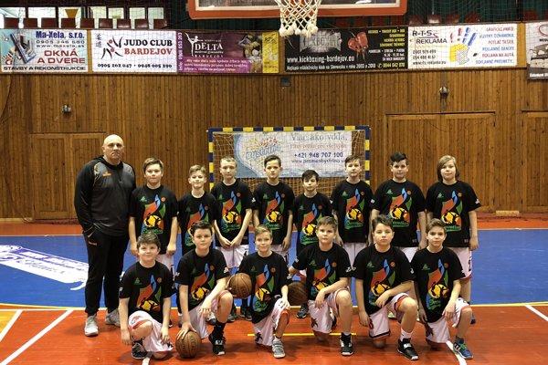 Malí Rytieri bardejovského basketbalu.