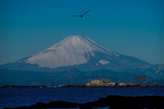 Japonsko. Fuji