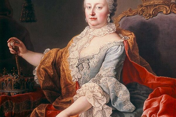 Mária Terézia (1717 - 1780,rakúska arcivojvodkyňa, uhorská a česká kráľovná z rodu Habsburgovcov v rokoch 1740 – 1780.