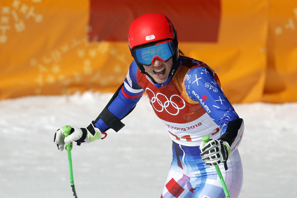 Petra Vlhová brala super-G ako tréning.