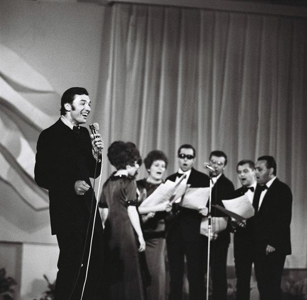 Karel Gott v roku 1968 na Bratislavskej lýre.