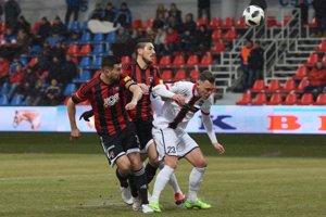 Kapitán Spartaka Trnava Boris Godál v zápase proti Zlatým Moravciam.
