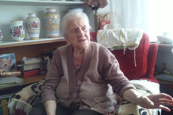 Žofia Martišová je najstaršou Handlovčankou, má stojeden rokov.