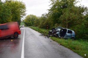 Tragická dopravná nehoda medzi obcami Chrabrany aUrmince.