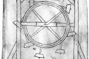 Nákres perpetuum mobile od Villarda de Honnecourta,