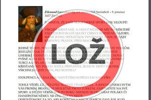 Údajný citát Žigmunda Luxemburského je hoax.