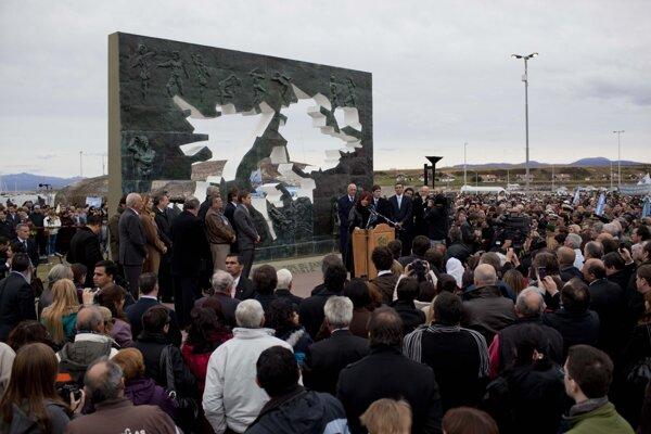 Pamätník obetiam vojny o Falklandské ostrovy.