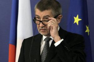 Český premiér v demisii Andrej Babiš, líder hnutia ANO.