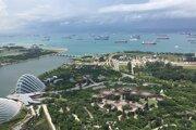Singapur, bohatý a pôsobivý ostrovný mestský štát.