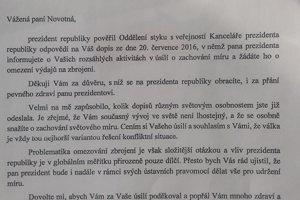 List od susedov. Medzi tými, ktorí odpovedali, je aj Kancelária prezidenta Českej republiky.