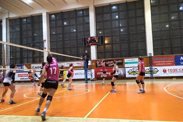 Momentka z víťazného zápasu proti Prešovu.