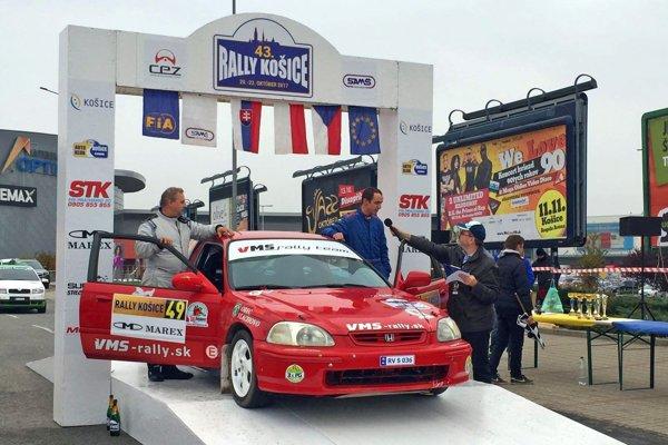Marek Adami (vpravo) na Rally Košice.