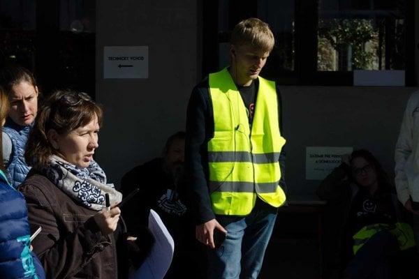 Koordianátorka platformy Nie v našom meste Martina Strmeňová spoluorganizuje pochody v Banskej Bystrici.